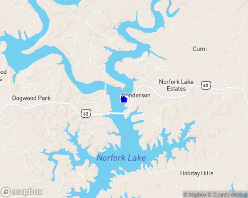 Norfork Lake Map