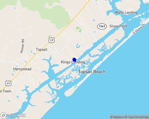 Intracoastal Waterway - Pender County Map