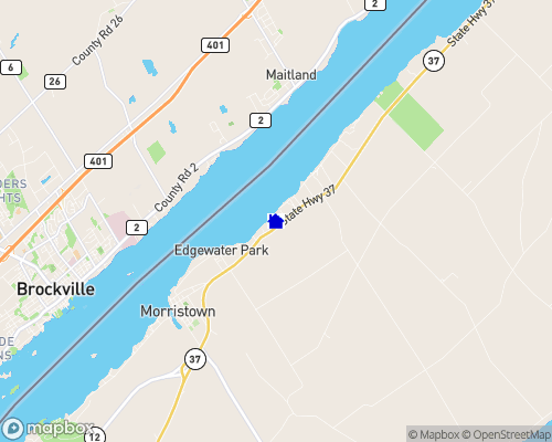 Lake Ontario  - St Lawrence County Map