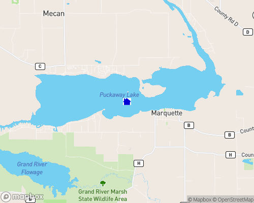 Puckaway Lake Map