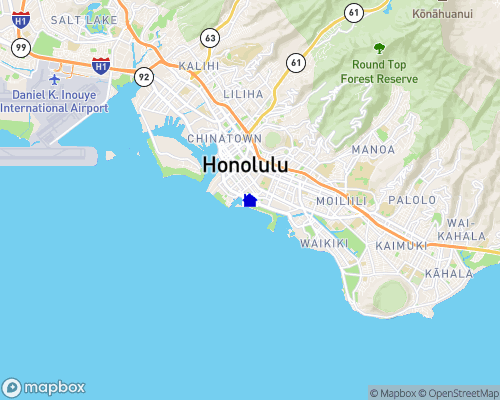 Oahu Island - Honolulu Map