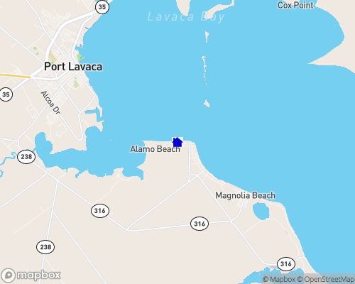 Gulf Coast - Lavaca Bay Map