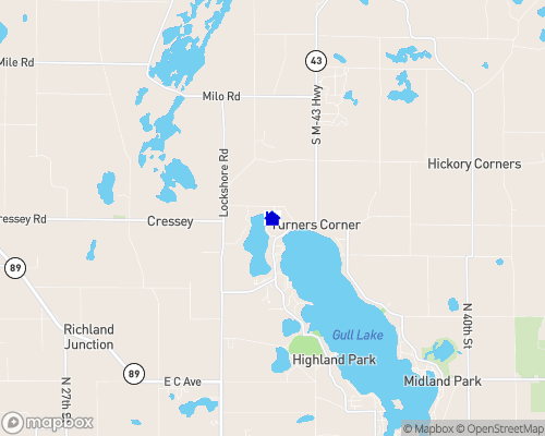Little Long Lake - Barry County Map