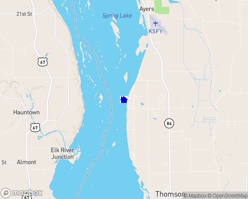 Mississippi River - Carroll County Map