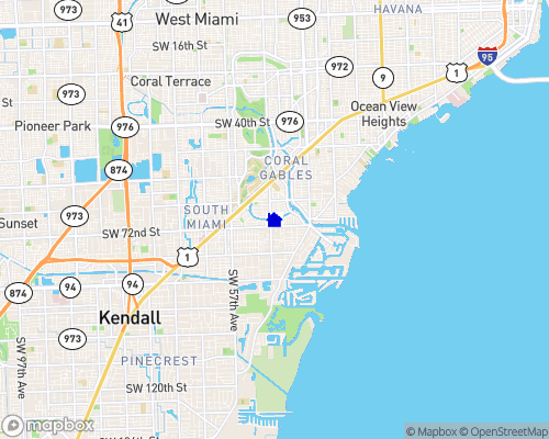 Coral Gables Waterway Map