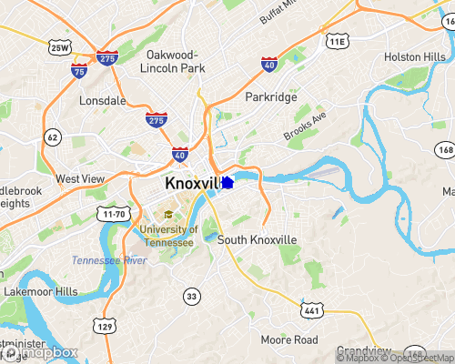Tennessee River - Knox County Map