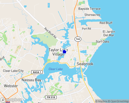 Taylor Lake - Galveston County Map