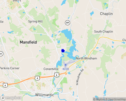 Mansfield Hollow Lake Map