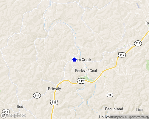 Coal River - Boone County Map