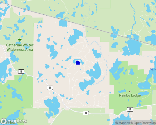 Beaver Lake - Vilas County Map