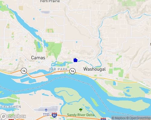 Washougal River - Clark County Map