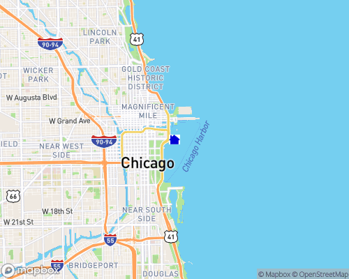 Lake Michigan - Cook County Map