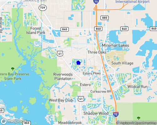 Lakes at Estero Country Club Map