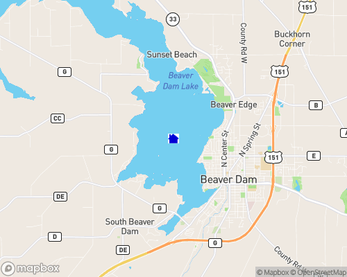 Beaver Dam Lake - Dodge County Map