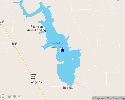 Red Bluff Reservoir Map