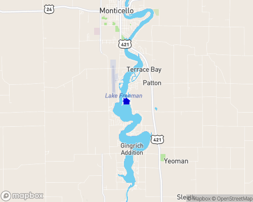 Lake Freeman Map