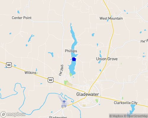 Lake Gladewater Map