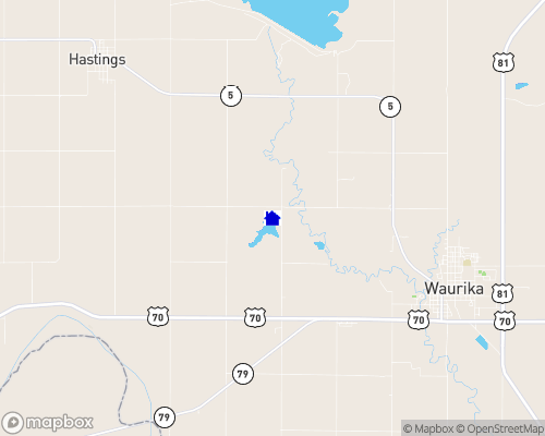 Waurika Lake Map