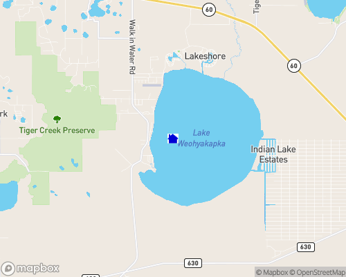 Lake Weohyakapka (Lake Walk-In-Water) Map