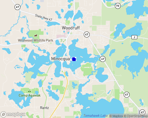 Lake Minocqua Map