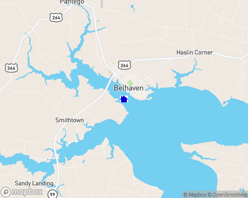 Pungo River - Beaufort County Map