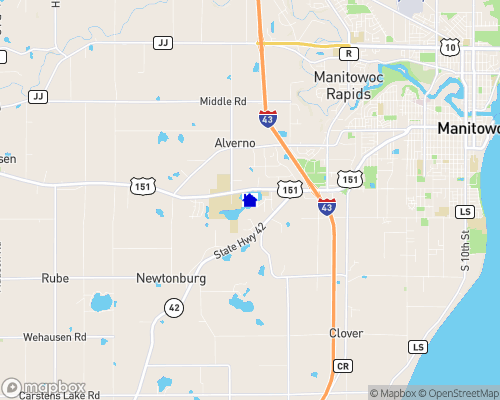 Silver Lake - Manitowoc County Map
