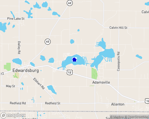 Eagle Lake - Cass County Map
