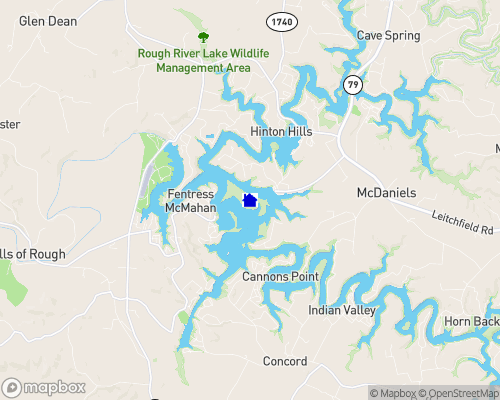 Rough River Lake Map