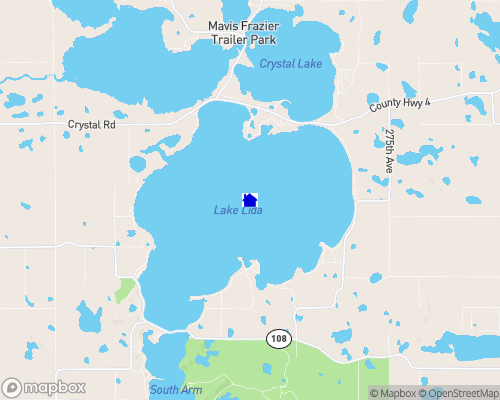 Lake Lida Map
