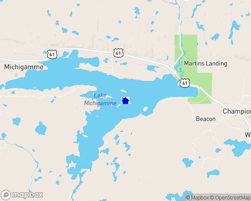 Lake Michigamme Map