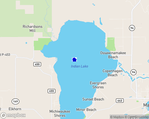 Indian Lake - Schoolcraft County Map