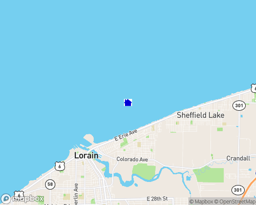 Lake Erie - Lorain County Map