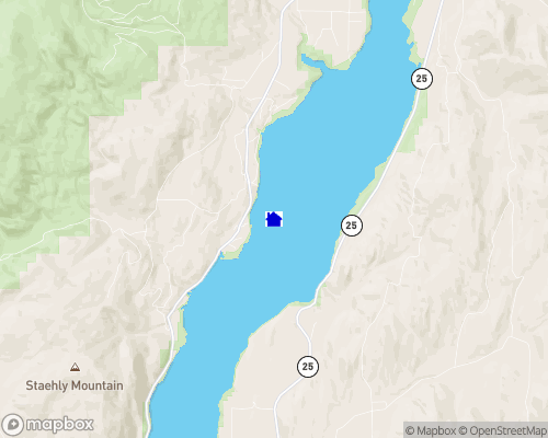 Lake Roosevelt - Ferry / Stevens County Map