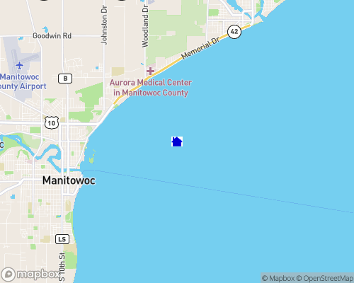 Lake Michigan - Manitowoc County Map