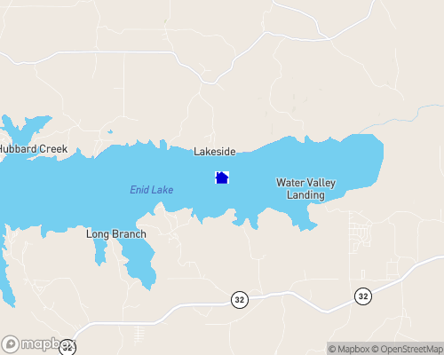 Enid Lake Map