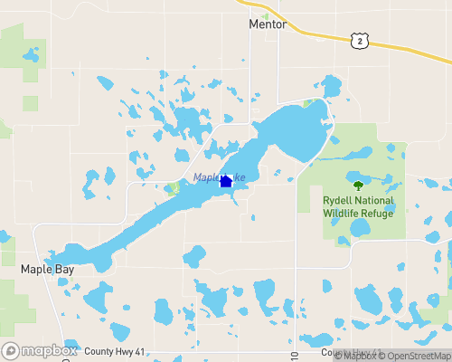 Maple Lake - Polk County Map