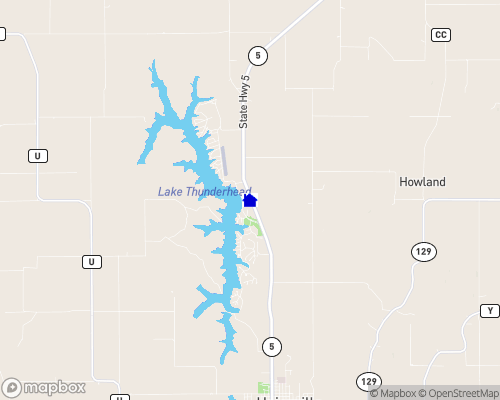 Lake Thunderhead Map