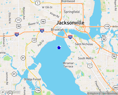 St. Johns River - Duval County Map