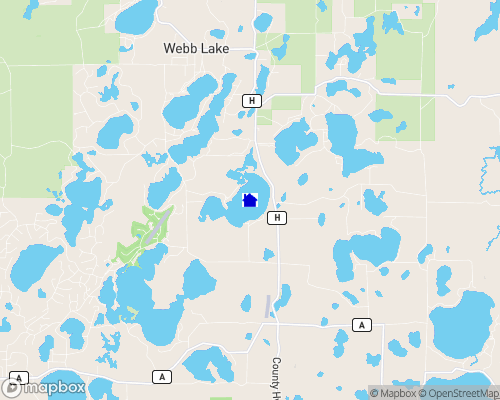 Fish Lake - Burnett County Map