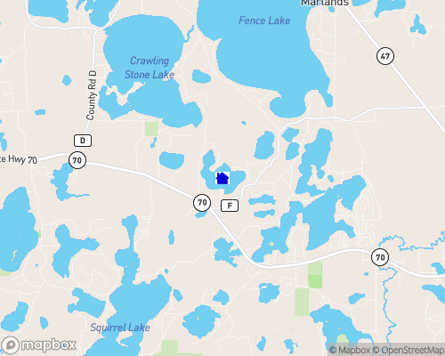 Whitefish Lake - Vilas County Map