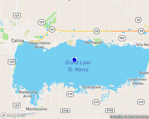 Grand Lake St. Marys Map