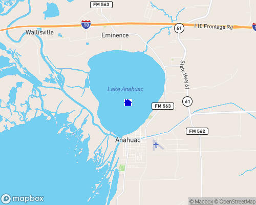 Lake Anahuac Map