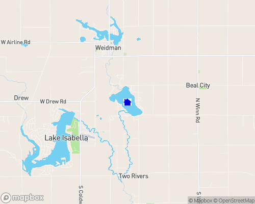 Coldwater Lake - Isabelle County Map