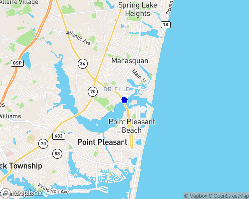 Atlantic Ocean - Manasquan River Map