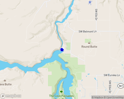 Billy Chinook Lake Map