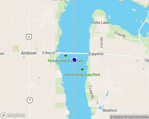 Pymatuning Reservoir Map