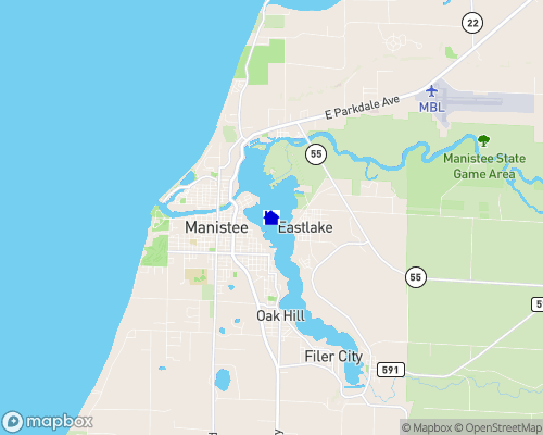 Manistee Lake - Manistee County Map