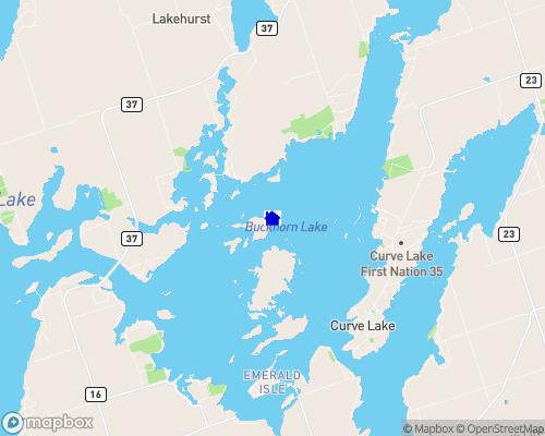 Buckhorn Lake  Map
