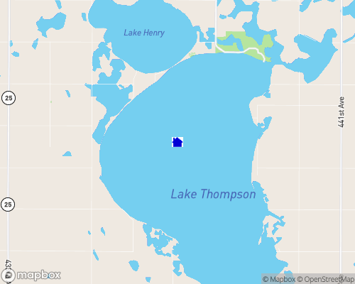 Lake Thompson Map