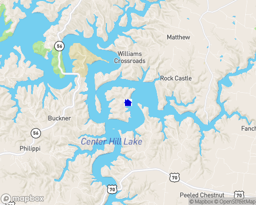Center Hill Lake Map
